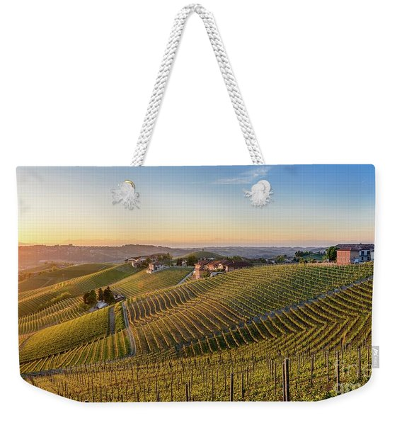 Vineyard At Barbaresco, Italy Weekender Tote Bag