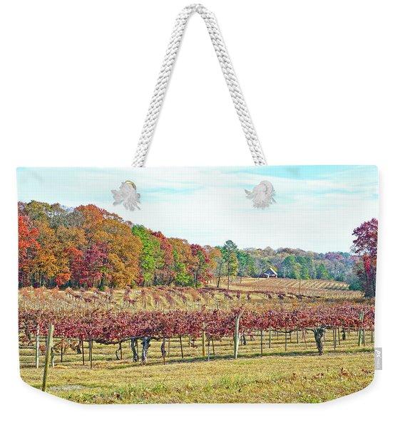 Vineyard In Autumn Weekender Tote Bag