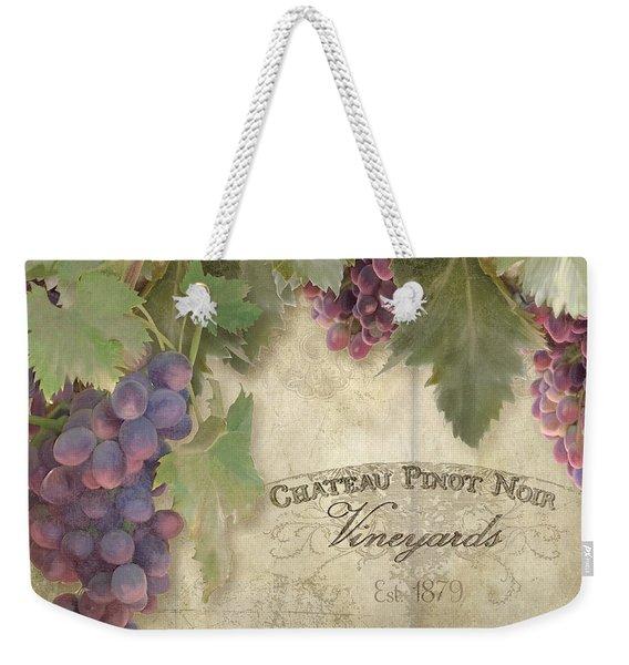 Vineyard Series - Chateau Pinot Noir Vineyards Sign Weekender Tote Bag