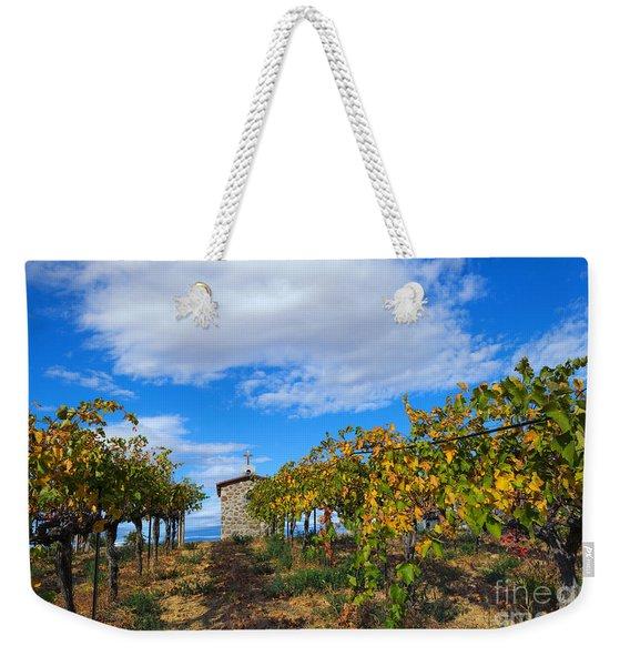 Vineyard Temple Weekender Tote Bag
