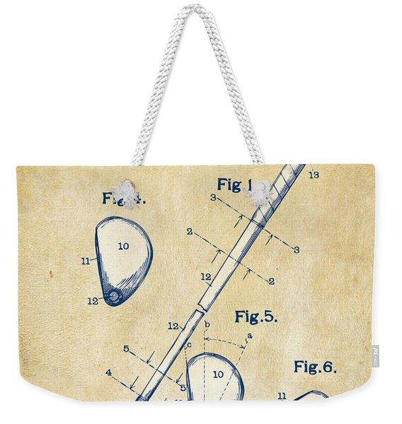 Vintage 1910 Golf Club Patent Artwork Weekender Tote Bag