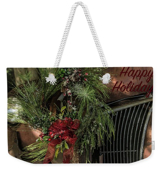 Vintage 40 Ford Truck Christmas Weekender Tote Bag