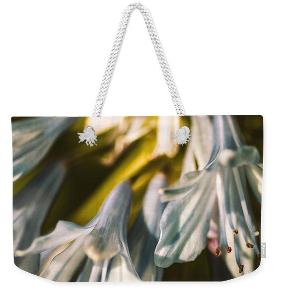 Vintage Agapanthus Flower Weekender Tote Bag