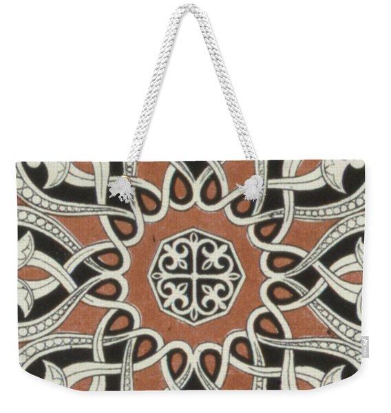 Vintage Arabian Textile Pattern Design Weekender Tote Bag