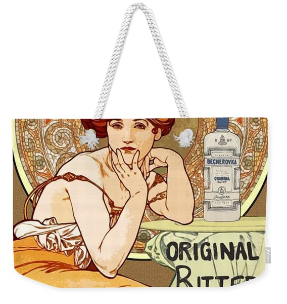 Vintage Art Nouveau Bechers Original Bitter 1807 Weekender Tote Bag
