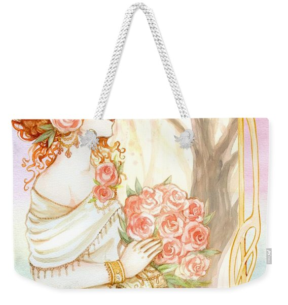 Vintage Art Nouveau Flower Lady Weekender Tote Bag