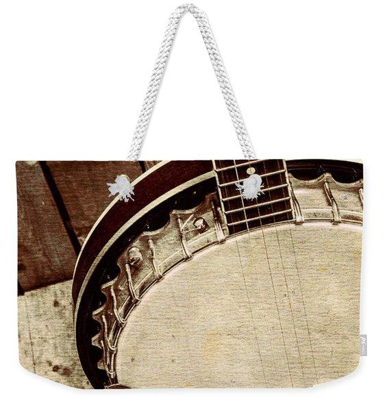 Vintage Banjo Barn Dance Weekender Tote Bag