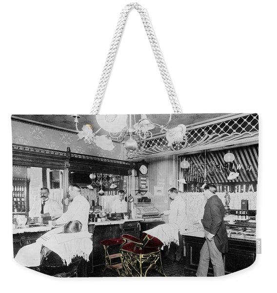 Vintage Barbershop 4 Weekender Tote Bag