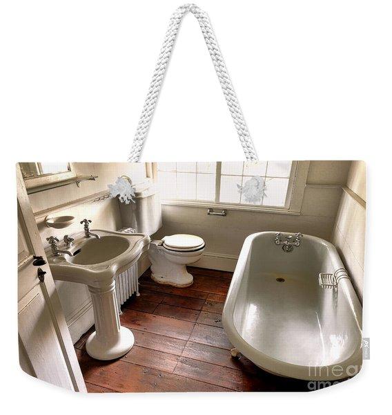 Vintage Bathroom Weekender Tote Bag