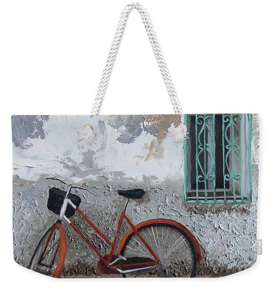 Vintage Series #3 Bike Weekender Tote Bag