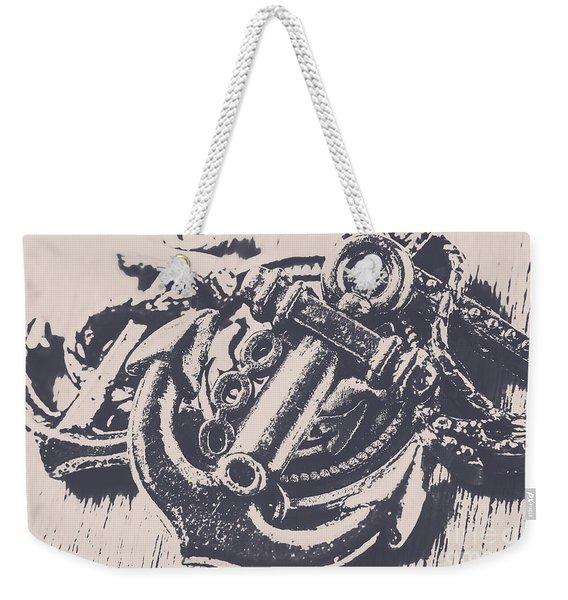 Vintage Boating Anchor Weekender Tote Bag