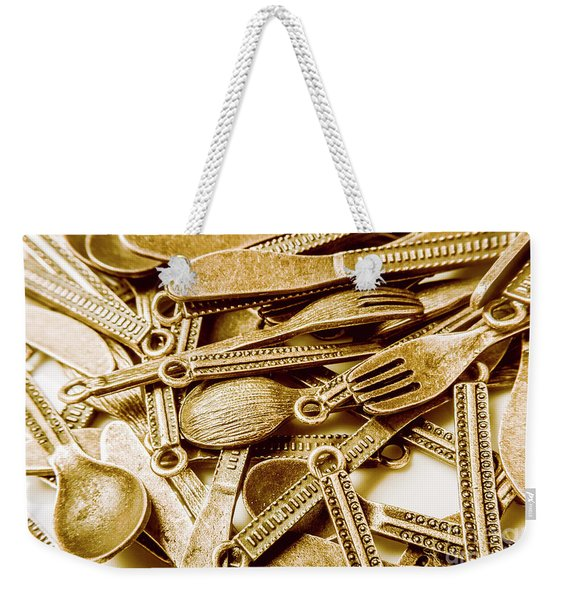 Vintage Buffet Weekender Tote Bag