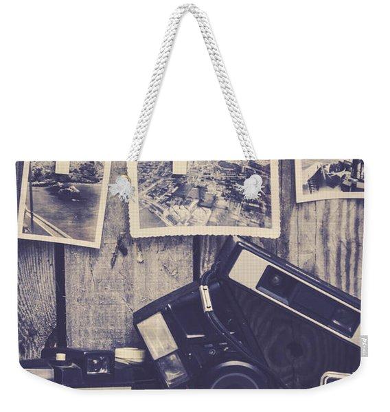 Vintage Camera Gallery Weekender Tote Bag