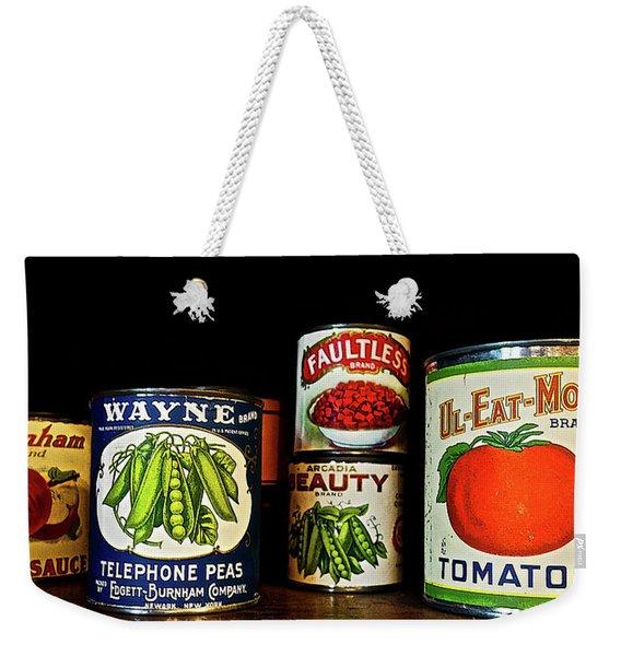 Vintage Canned Vegetables Weekender Tote Bag