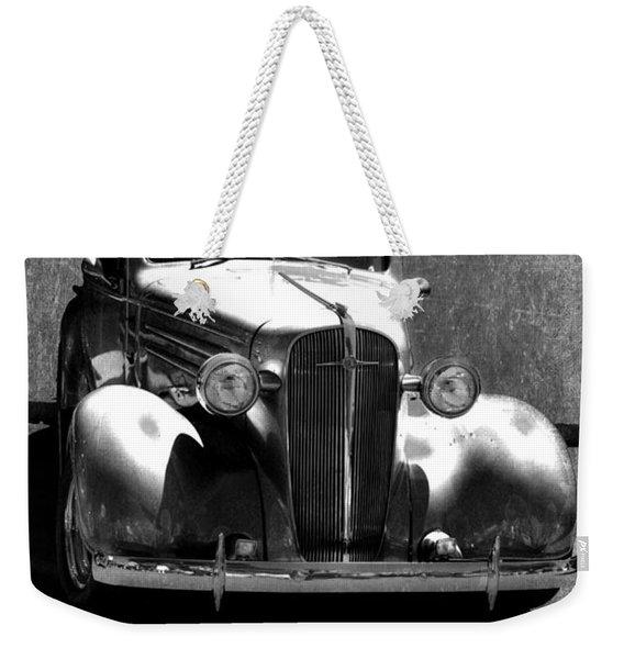 Vintage Car Art 0443 Bw Weekender Tote Bag