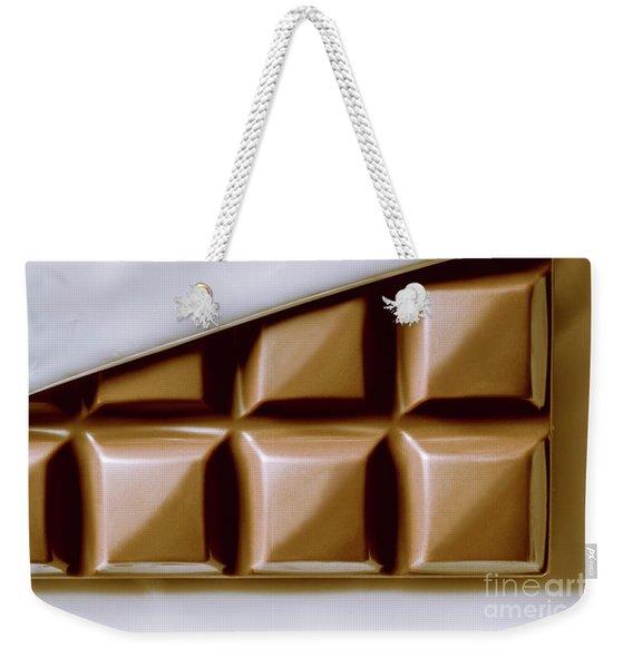 Vintage Chocolate Block Macro Weekender Tote Bag