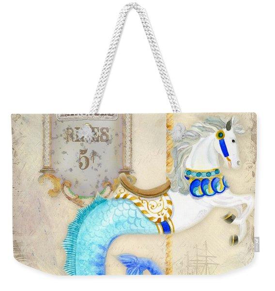 Vintage Circus Carousel - Seahorse Weekender Tote Bag