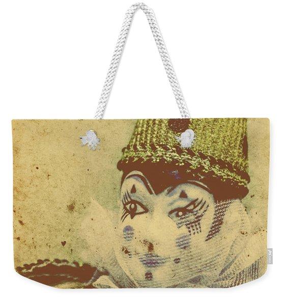 Vintage Circus Postcard Weekender Tote Bag
