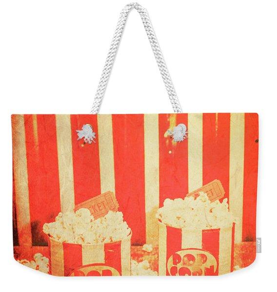 Vintage Classical Cinema Interval Concept Weekender Tote Bag
