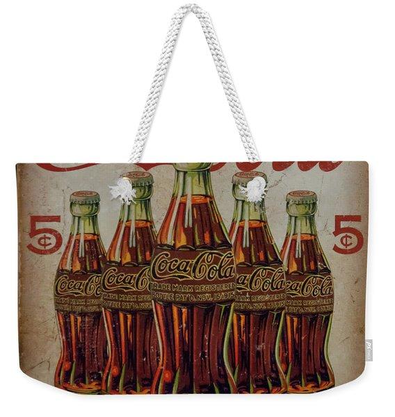 vintage Coca Cola sign Weekender Tote Bag