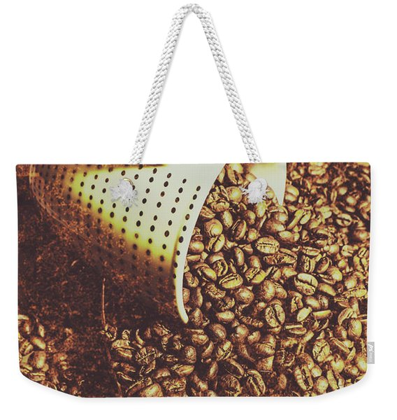 Vintage Coffee Shop Scene Weekender Tote Bag
