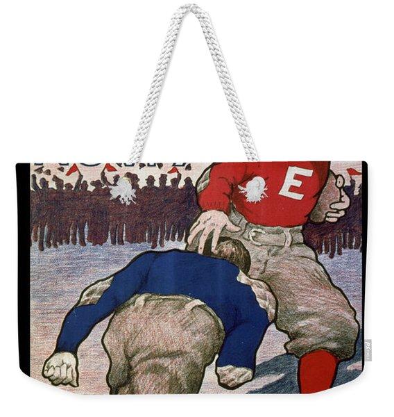 Vintage College Football Exeter Andover Weekender Tote Bag