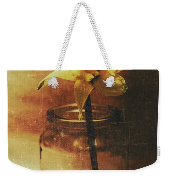 Vintage Daffodil Flower Art Weekender Tote Bag