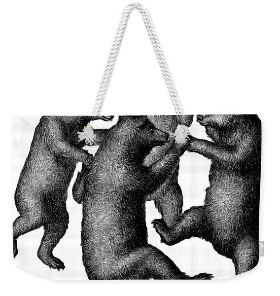Vintage Dancing Bears Weekender Tote Bag