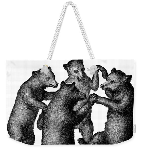 Vintage Dancing Bears Weekender Tote Bag