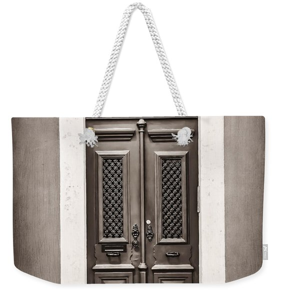 Vintage Door In Lisbon Weekender Tote Bag