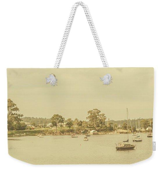 Vintage Dover Harbour Tasmania Weekender Tote Bag