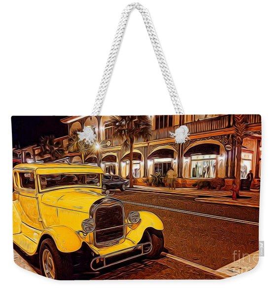 Vintage Dreams And City Lights Weekender Tote Bag