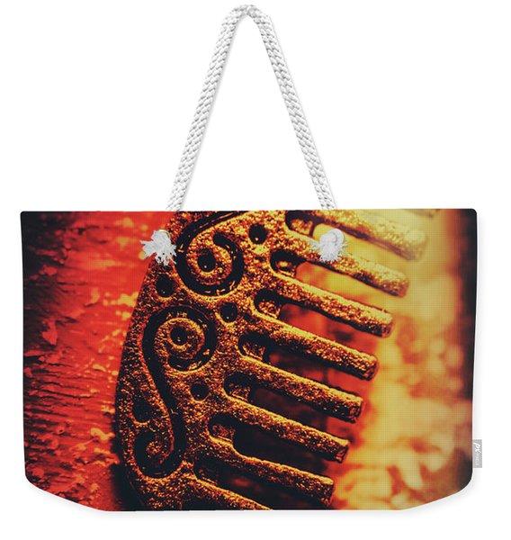 Vintage Egyptian Gold Comb Weekender Tote Bag