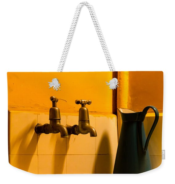 Vintage English Tap Water With Watering Can Weekender Tote Bag