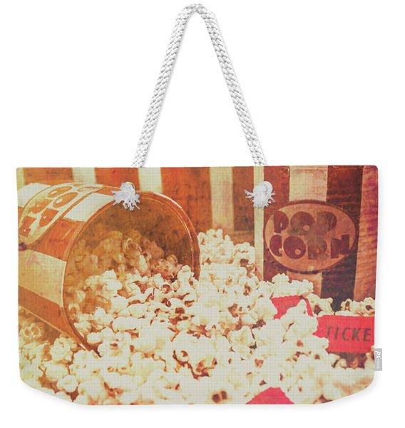 Vintage Entertainment Background Weekender Tote Bag