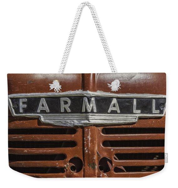 Vintage Farmall Tractor Weekender Tote Bag