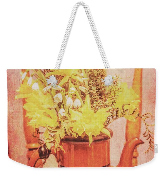 Vintage Fine Art Still Life With Daffodils Weekender Tote Bag