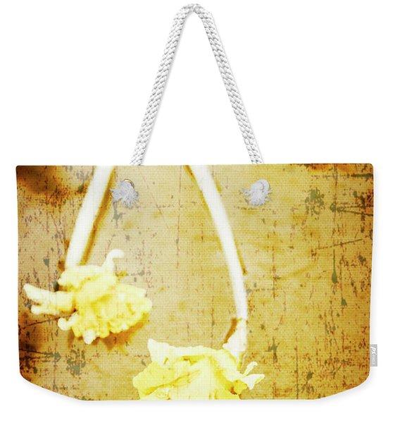 Vintage Floating River Flowers Weekender Tote Bag