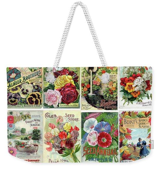 Vintage Flower Seed Packets 1 Weekender Tote Bag