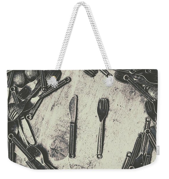 Vintage Food Service Weekender Tote Bag