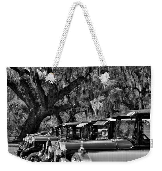 Vintage Ford Line-up At Magnolia Plantation - Charleston Sc Weekender Tote Bag