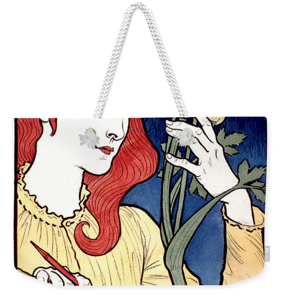 Vintage French Advertising Art Nouveau Salon Des Cent Weekender Tote Bag