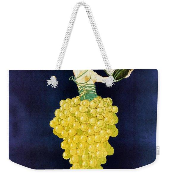 Vintage French Champagne Weekender Tote Bag