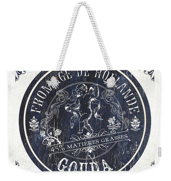 Vintage French Cheese Label 1 Weekender Tote Bag