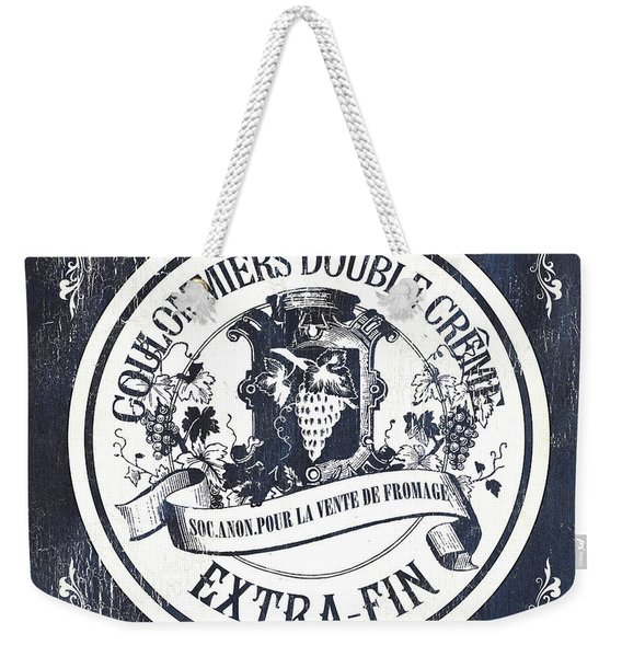 Vintage French Cheese Label 2 Weekender Tote Bag