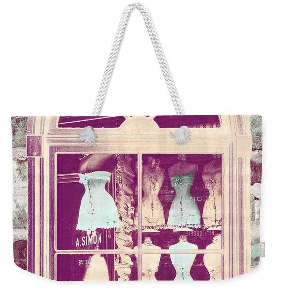 Vintage French Corset Shop Weekender Tote Bag