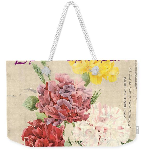 Vintage French Flower Shop 4 Weekender Tote Bag