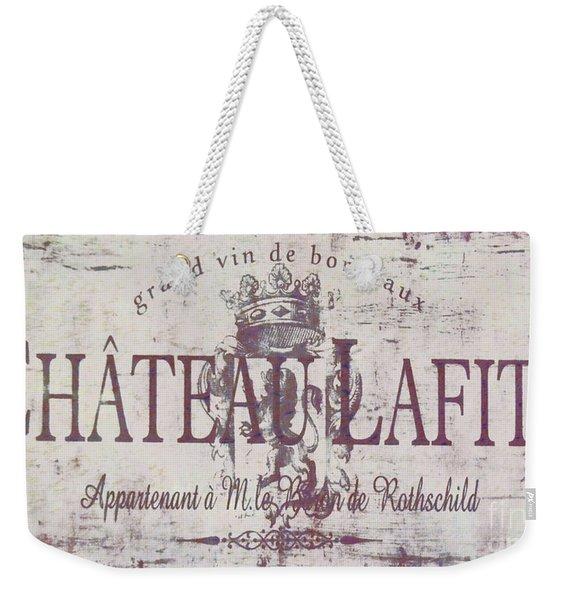 Vintage French Wine Sign Weekender Tote Bag