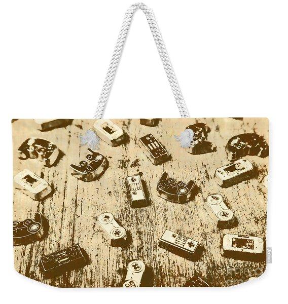 Vintage Gamers Weekender Tote Bag