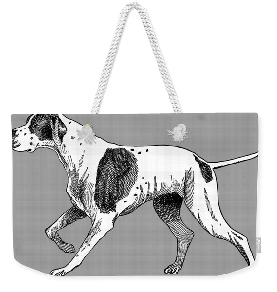 Weekender Tote Bag featuring the painting Vintage German Shorthaired Pointer by Marian Cates